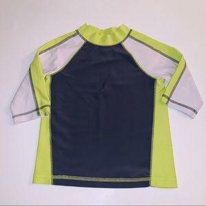 Circo Gray, White & Lime Green Rashguard 4T